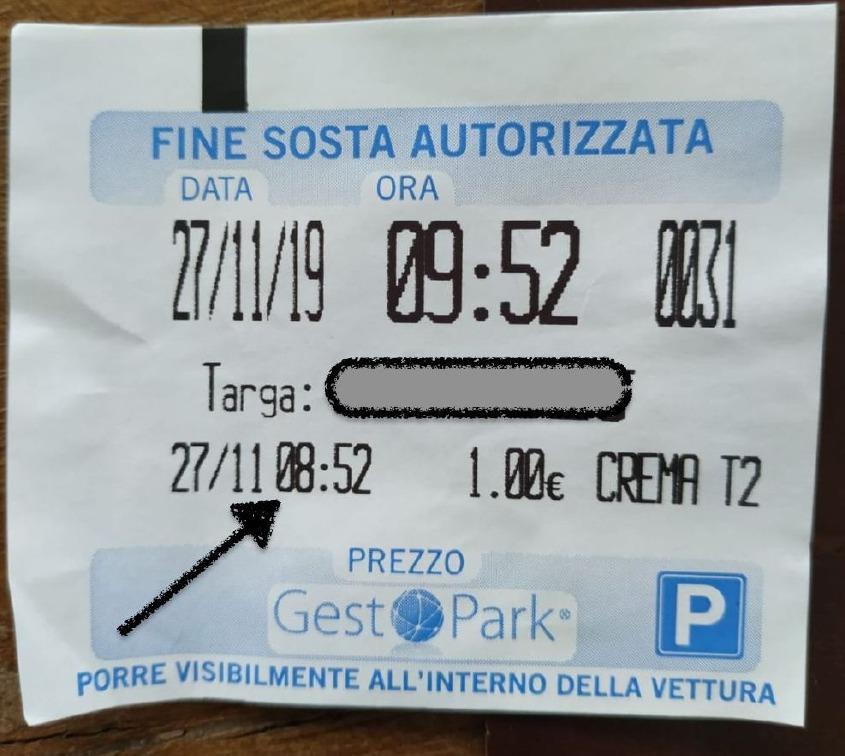 Crema News - Paga il parcheggio e viene multato