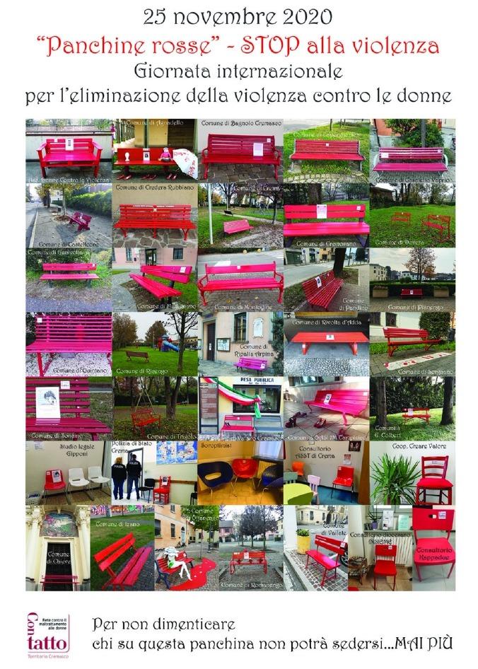 Crema News - Sessanta panchine rosse