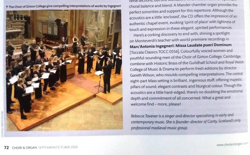 Crema News - Choir and Organ omaggia il Collegium vocale