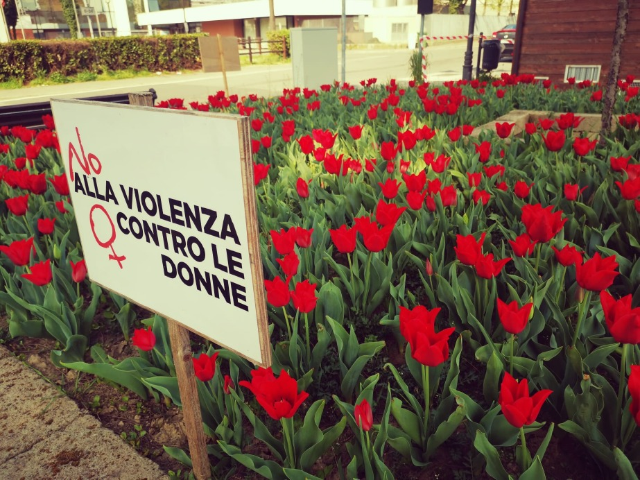 Crema News - Tulipani rossi, ricordando  le donne