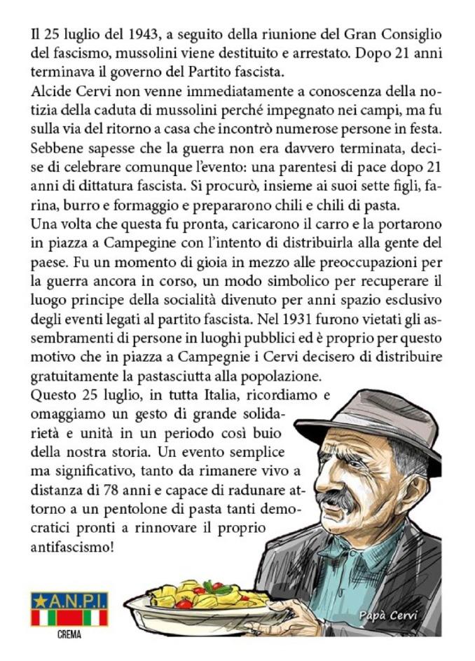 Crema News - Pastasciutta antifascista